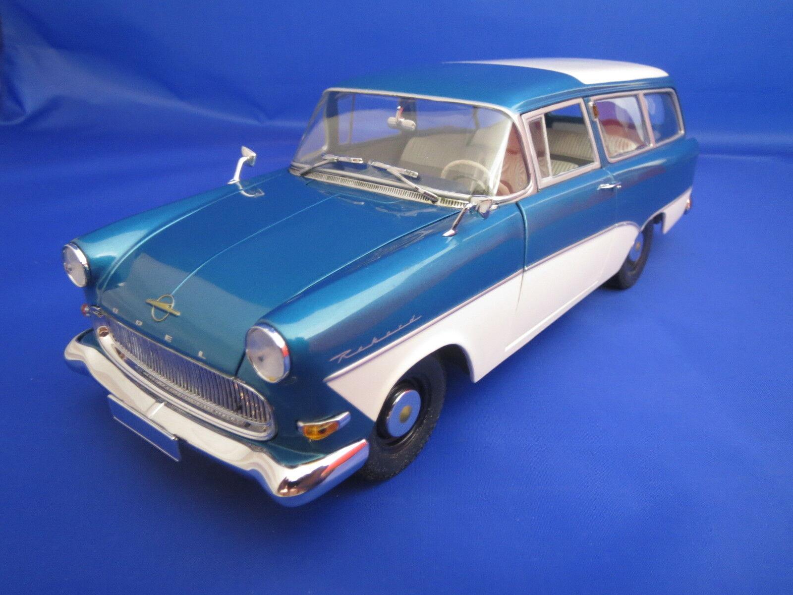 Minichamps OPEL REKORD p1 voitureavan (1958) (bleu Metallic)  1 18 OVP  plus abordable