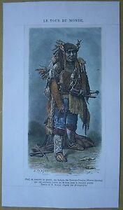 1875-print-CHIEF-OF-WARM-SPRINGS-TENINO-INDIANS-IN-WAR-COSTUME-OREGON-178