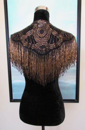 VTG 80's Sharmark Las Vegas Beaded Shoulder Shawl… - image 1