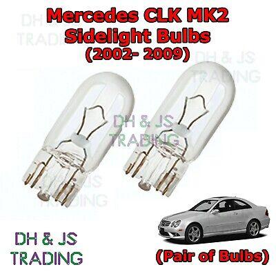 02-09 Mercedes CLK Front Sidelights Park Lights Side Light Bulb Bulbs MK2
