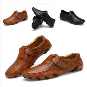 New-Men-039-s-Moccasins-Leather-Casual-Shoes-Driving-Slip-on-Shoes-Flats-Loafers