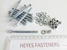 M6 X 70mm High Tensile 8.8 HT Bright Zinc Plated Hex Bolt Nuts Washer Pk of 10