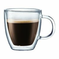 Bodum Bistro Double-wall Insulated Glass Espresso Mugs, Set Of 2 , New, Free Shi