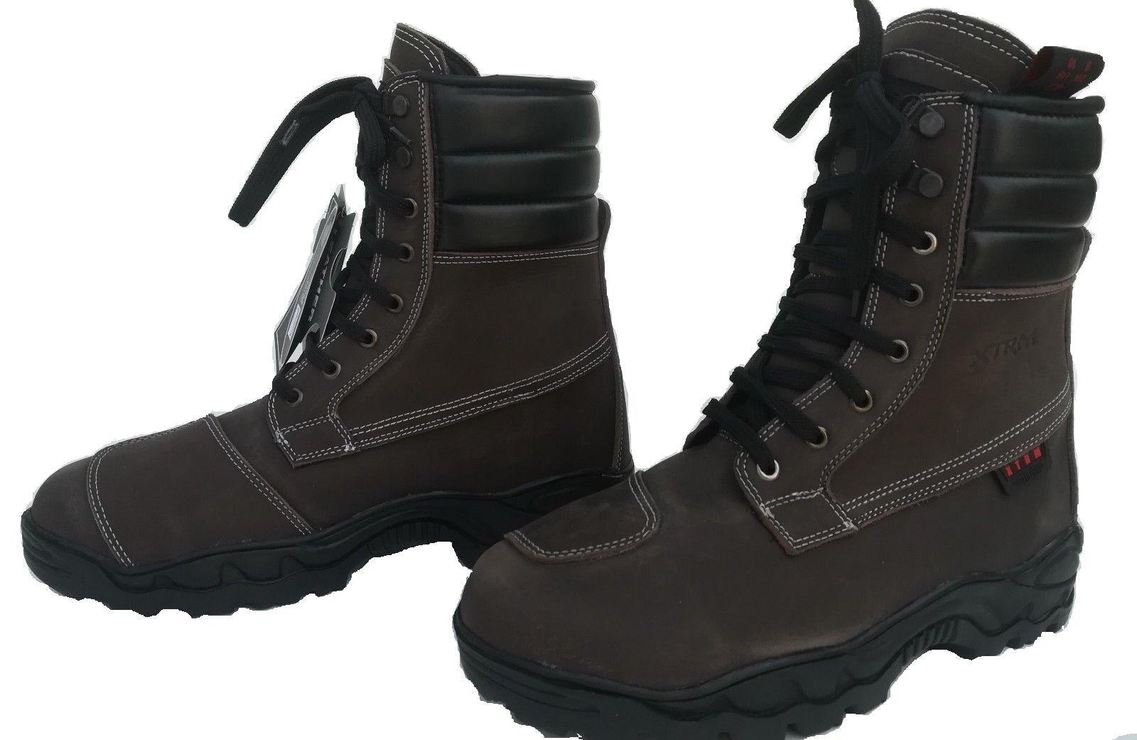 botas de moto touring para ciudad urbana armadura botas para touring caminar nuevo marrones 1c82f8