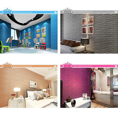 3d Brick Sticker Self Adhesive Pe Foam Wallpaper Panels Room Decal 70x77cm Decro Ebay
