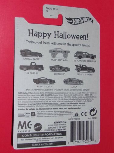Hot Wheels HAPPY HALLOWEEN Ford Olds Plymouth Zotic Scorcher Gatspeed 18 DIFFERE
