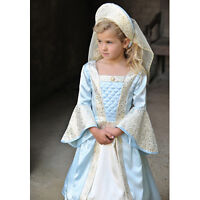 Girls Children's Tudor Princess Lady Fancy Dress Up Historical Queen Costume