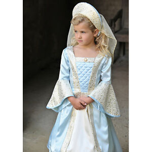 Girls-Childrens-Tudor-Princess-Lady-Fancy-Dress-Up-Historical-Queen-Costume
