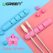 Ugreen 2Pack  Earphone Headphone Cable Winder Organizer Cord Wrap Blue