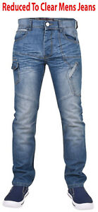 Enzo-Mens-Denim-Jeans-Straight-Leg-Regular-Fit-Trousers-Pants-All-Waist-Sizes