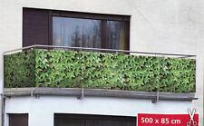 WENKO Sichtschutz 5m x 0,85m Windschutz WILDER WEIN Fotodruck Balkonschutz Folie