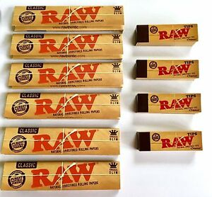 RAW-RIZLA-CLASSIC-KING-SIZE-SLIM-110MM-ROLLING-PAPER-WITH-ROACH-FILTER-TIPS-UK