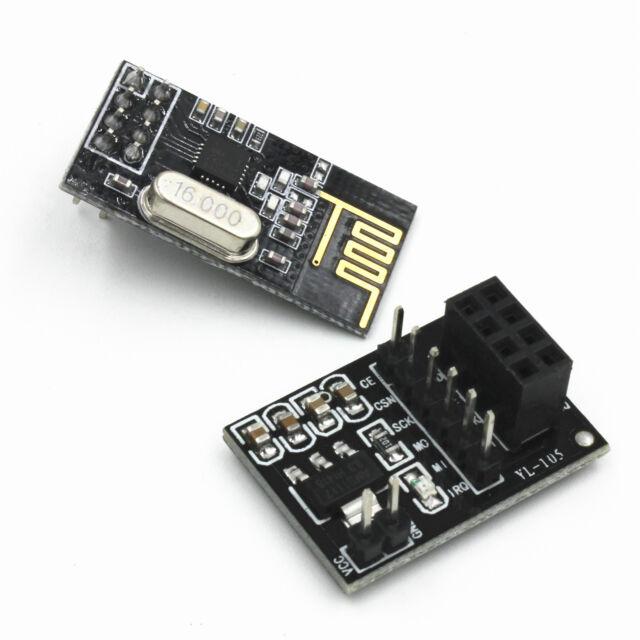 Neu  NRF24L01+ 2.4GHz RF Wireless Transceiver Module+8Pin Socket Adapter Board