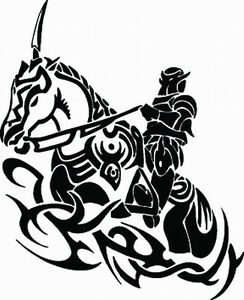 Image Is Loading NEW TRIBAL KNIGHT TAN2 237 DECAL VINYL GRAPHIC