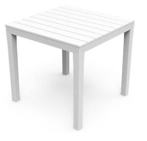 Gartentisch Bali Weiss Wetterfest Tisch 80 X 80 Cm Balkontisch Holz