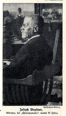 """70 Geburtstag Joseph Wopfner München Der""""chiemseemaler"""" Histor Memorabile 1913 Buy Now"""