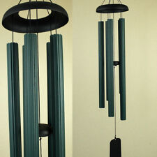 92cm 5 Tube Black Engraved Hand Tuned Wind Chime Modern Look