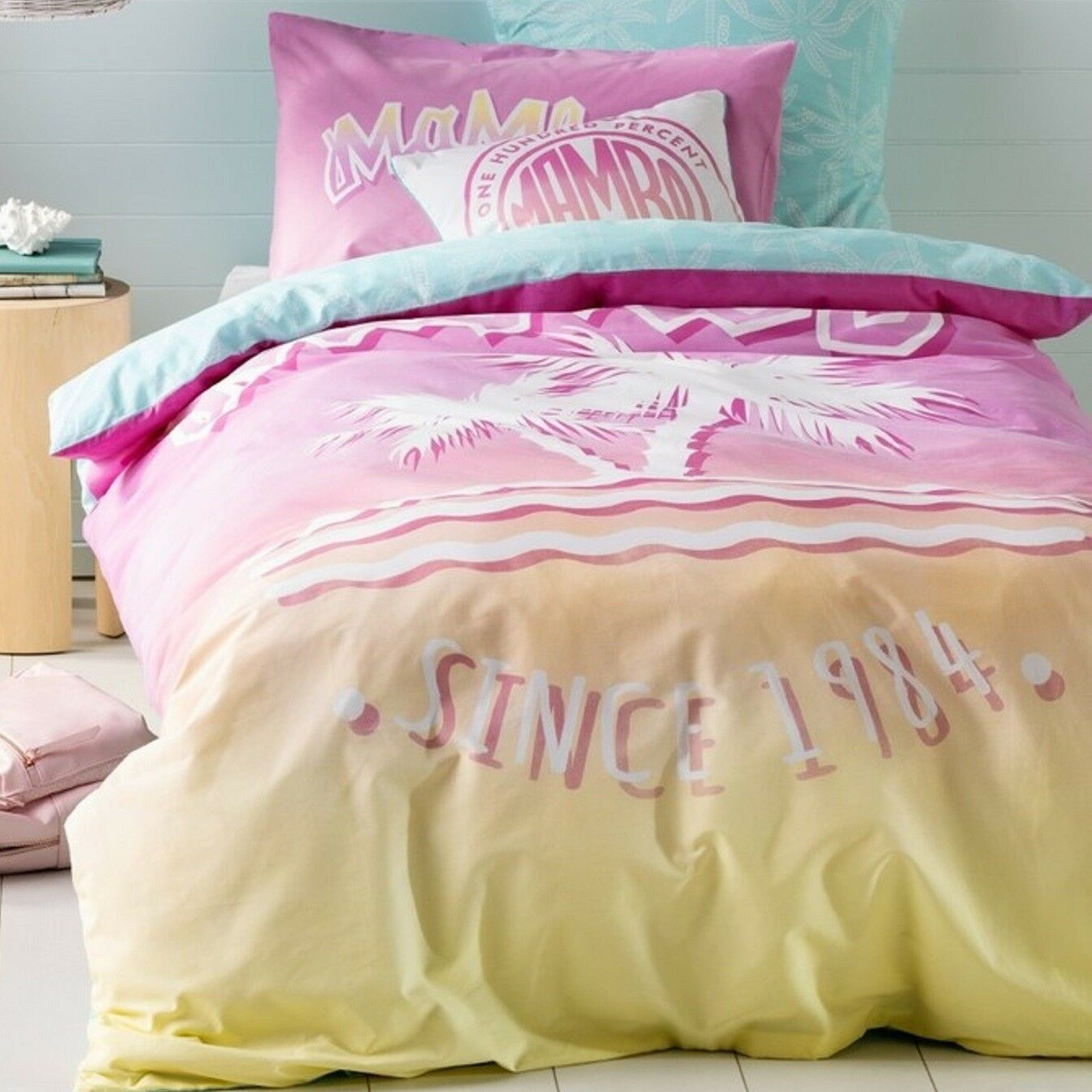 Mambo - Sunset Paradise - Queen Bed Quilt Doona Duvet Cover Set
