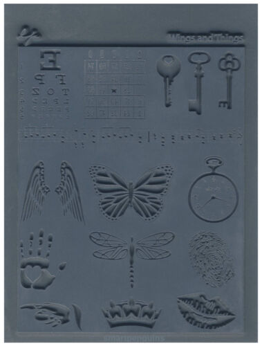 Lisa Pavelka Texture Stamp Mold Sheet Surface Imprinting Wings /& Things Innie