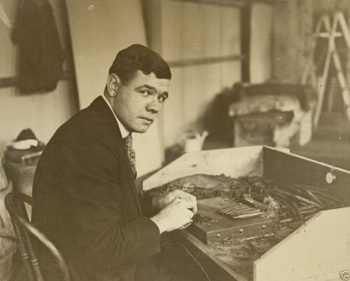 Baseball great Babe Ruth rolling a cigar 1919 New 8x10 Photo
