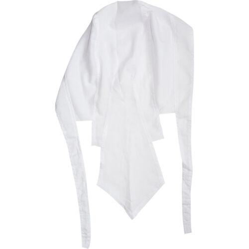 Plain White Bandana Biker Durag Pirate Fancy Dress Cycling Catering Chef Hat Cap