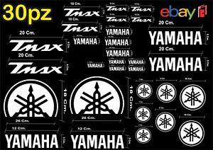 MAXI-KIT-30-PZ-DI-ADESIVI-YAMAHA-OLD-TMAX-T-MAX-500-530-COLORE-BIANCO