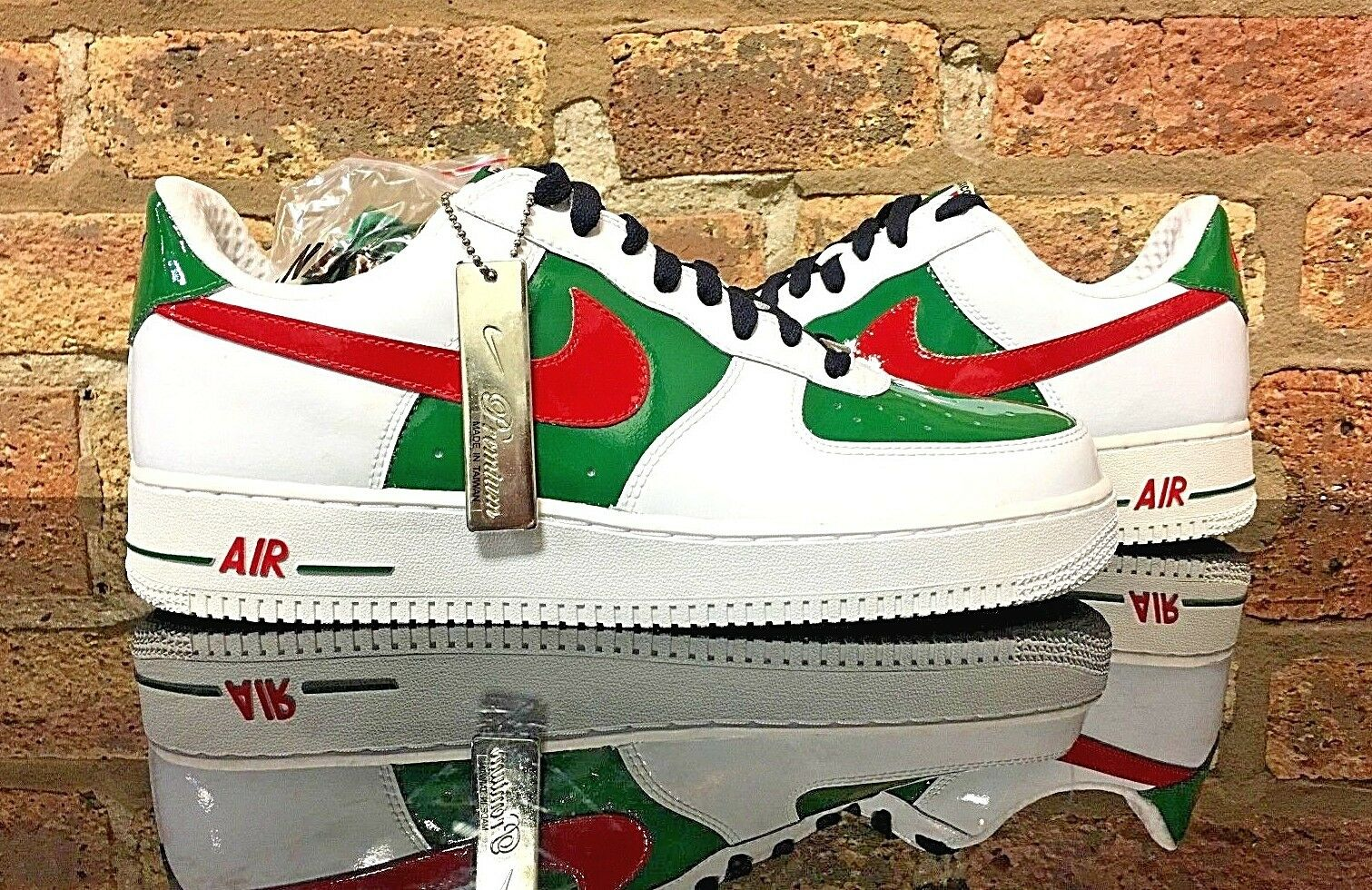 Nike Air Force 1 Premium  MEXICO   WHITE SPORT RED-PINE GREEN Size 11