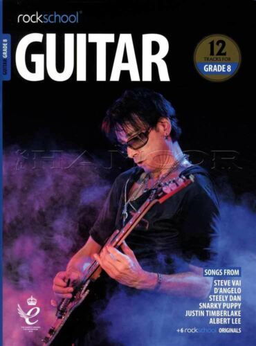 Rockschool Guitar Grade 8 2018-2024 TAB Music Book//Audio Songs Exercises Tests