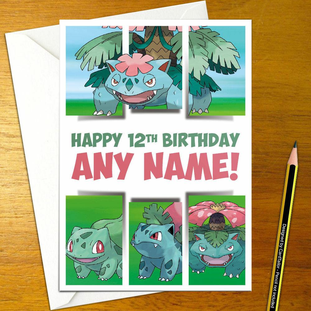 30 Bulbasaur Birthday Card