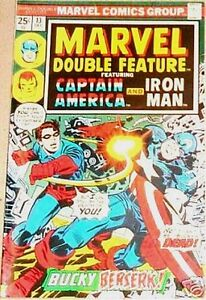 MARVEL DOUBLE FEATURE 13 CAPTAIN AMERICA IRON MAN F/VF
