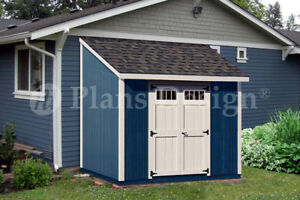 Shed Plans 8 X 8 Deluxe Lean To Roof Style D0808l Free Material