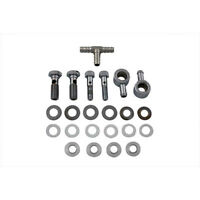 V-twin Chrome Breather Bolt Banjo Kit W/ Tee For Harley Air Cleaners Sportster on sale