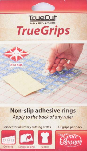 TrueCut Non Slip Ruler Grips-Transparent 15/Pkg