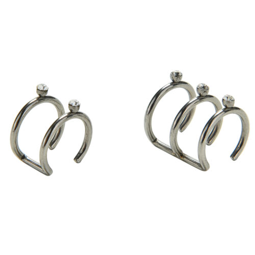 2//3 Row Helix Ear Cuff Cartilage Clip-on Wrap Earring No Piercing Jewelry VN