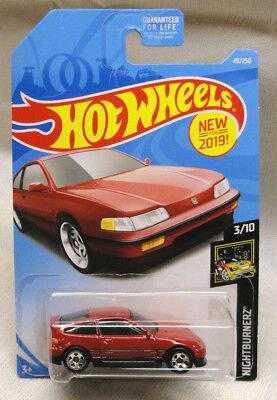 HOT WHEELS 2 /'88 1988 HONDA CR-X RED NIGHTBURNERZ 3//10 BNIP 49//250 LOT OF