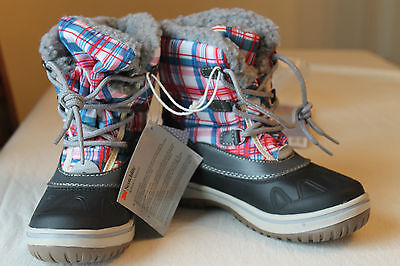 Kids Girl Boy Winter Boots 3M Checkered HOT FLOW Waterproof EUR 32 33 34 UK 1 2