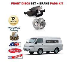 Per Hyundai H 100 2.5 D 2.5 DT Van 1997 -- > NUOVO FRONT Dischi Freno Set + DISC PADS KIT