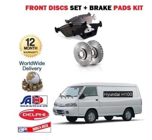 Almohadillas De Disco Kit /> Nuevo frente Discos De Freno Set Para Hyundai H100 2.5 D 2,5 dt van 1997