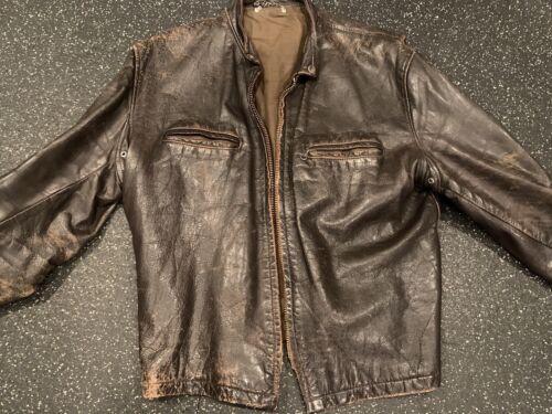 vintage motorcycle leather jacket