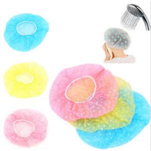 6PCS-Waterproof-Women-Lady-Elastic-Dot-Shower-Bathing-Salon-Hair-Cap-Hat-Random