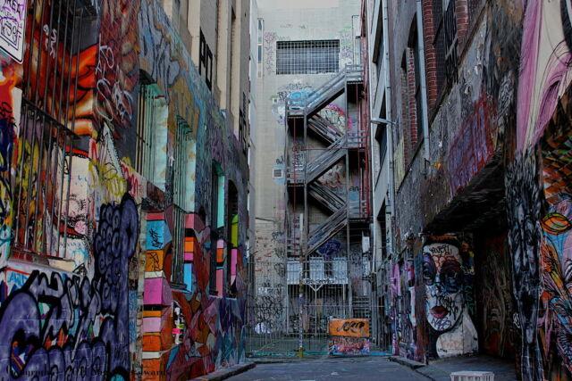 A0  Canvas Street Art Graffiti Print urban BANKSY stencil park swing Painting