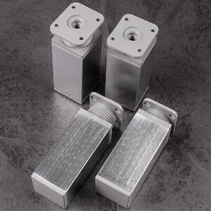 Moebelfuss-4er-SET-Moebelfuesse-40-x-40-mm-EDELSTAHL-60-180-mm-Sockelfuss-Fuss-Schrank