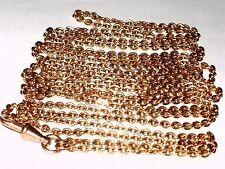Antico laminato oro rosa 9CT Orologio da taschino Guardia MANICOTTO Catena