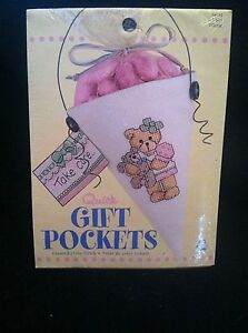 Quick Gift Pockets, Counted Cross Stitch 114021, Li'l Girl! New Sealed Kit