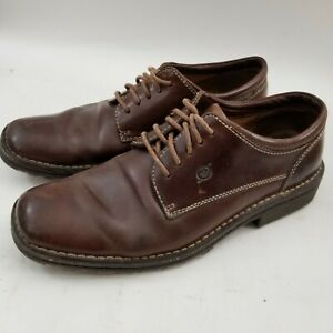 BORN-Oxfords-Brown-Leather-Lace-Up-Dress-Shoes-Mens-Size-8-Leather-Rubber-Soles