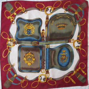 Superbe foulard RICHEL Paris soie TBEG vintage scarf 85 x 86 cm   eBay ab0f266ffd7