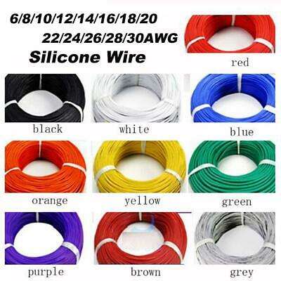 Silicone wire flex cable 8//10//12//14//16//18//20//22//24//26//30 awg