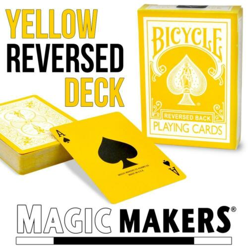 Yellow Reversed Back Bicycle Deck
