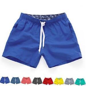 Men Swimming Board Shorts Swim Shorts Trunks Elastic Beach Summer Trouser M~3XL