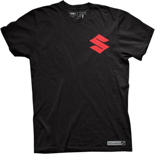 Factory Effex Licensed Suzuki Performance Dri-Core T-Shirt Black Mens All Sizes